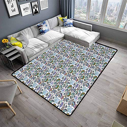- Starfish,Thin Non-Slip Kitchen Bathroom Carpet 64