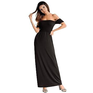 Moda Vestido | Vestido para mujer Vestidos europeos y americanos | Una palabra collar, falda