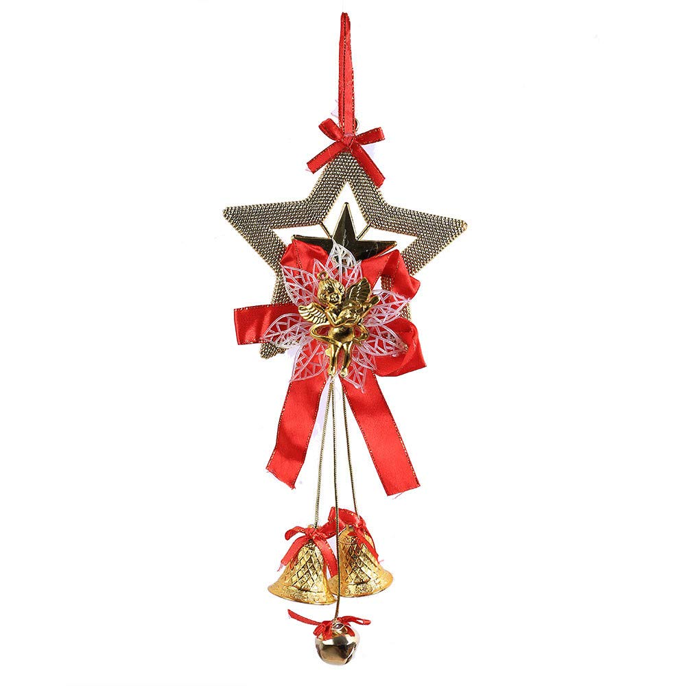 Kanhan Christmas Bell Ball Chain Gift Xmas Tree Pendant Hanging Decor Fashion Wind Chimes (Gold)