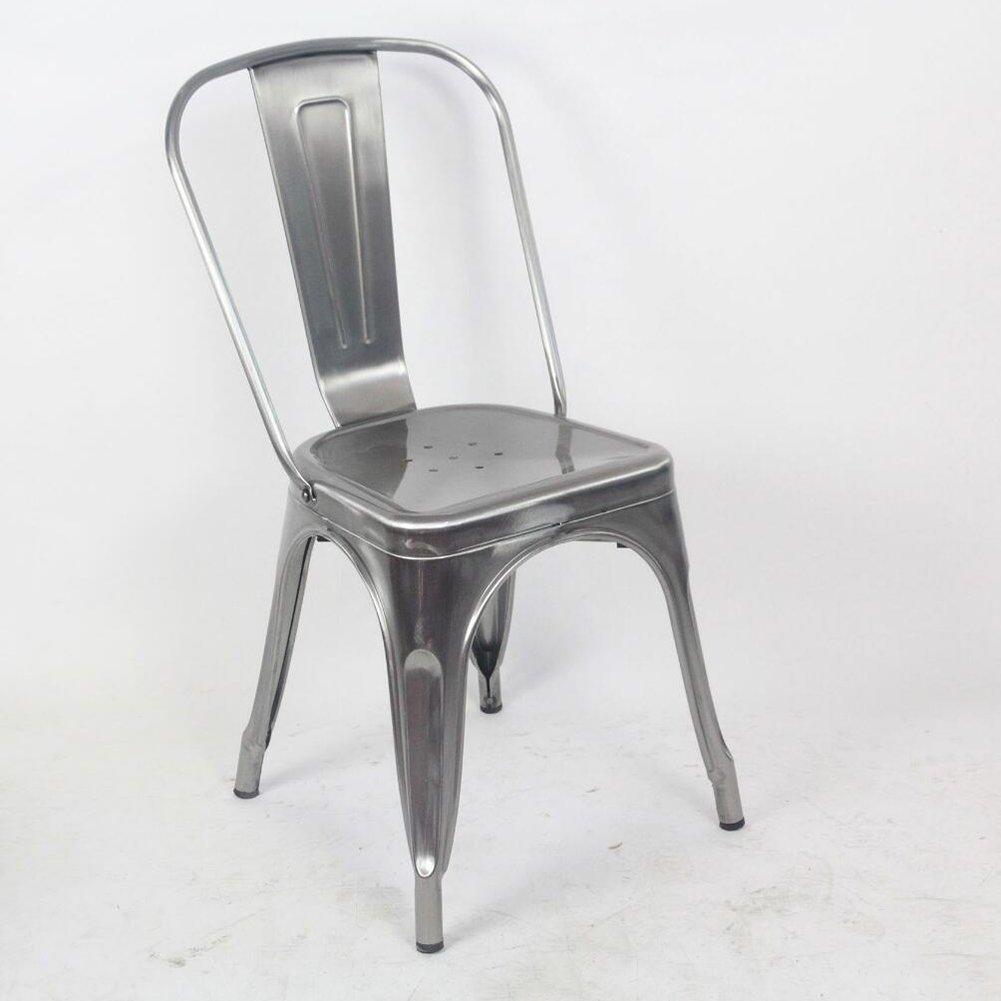 ダイニングチェア チェア Chair ッション アイアンアートバックレストコーヒーレストランVintage Industrial wind Drawing(単価4、販売から) TINGTING (色 : B-gray) B07F74HW75 B-gray B-gray