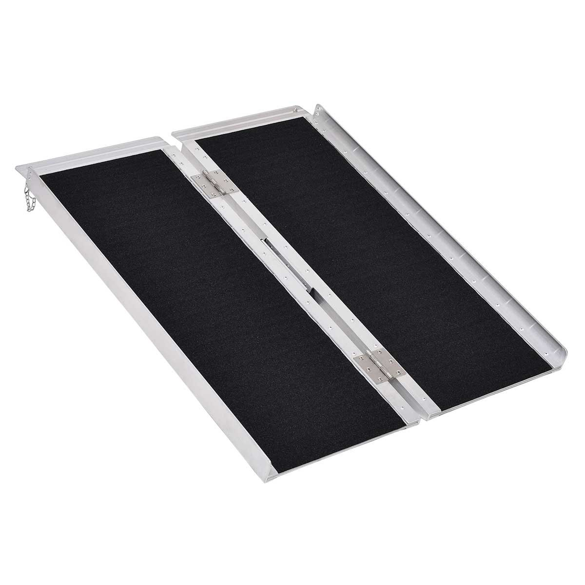 Safeplus Portable Aluminum Non-skid 3' Multifold Wheelchair Ramp Scooter Mobility Ramp (MF3)