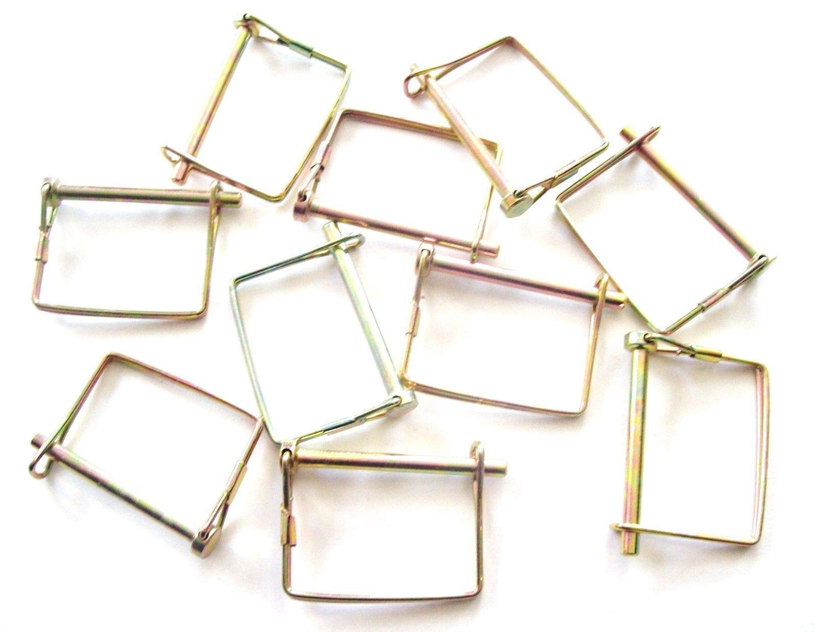 10 3'' SQUARE CAMPER AWNING PTO TRAILER HITCH PINS 1/4'' by Hitch Pins