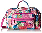 Vera Bradley Iconic Compact Weekender Travel Bag, Signature Cotton, Superbloom