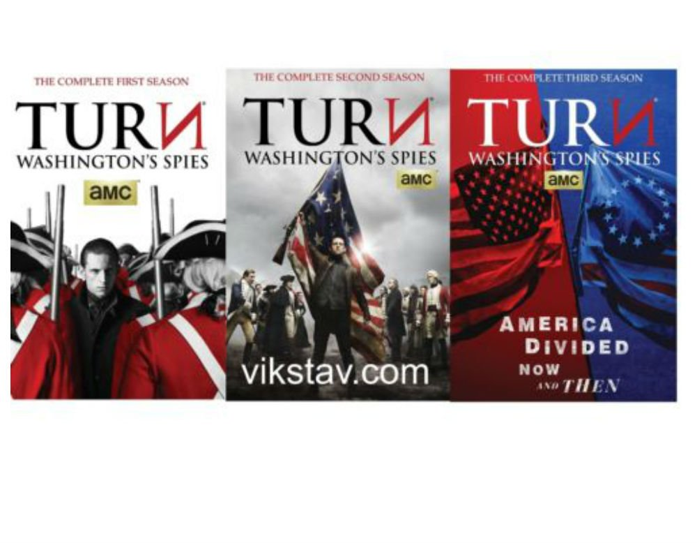 TURN: Washington's Spies: The Complete Series Seasons 1-3 (1 2 3) DVDs