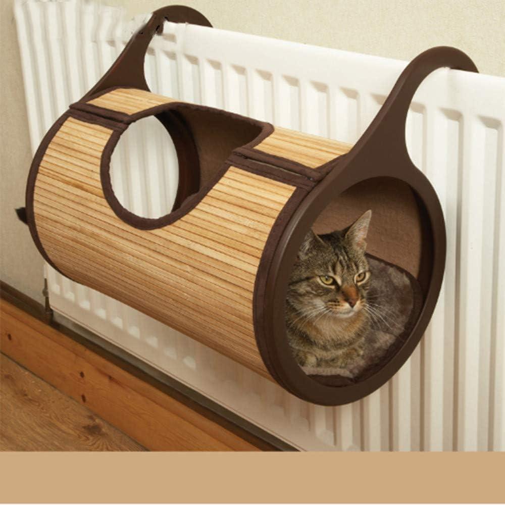 de Tablero de rasguño de Gato Bambú Natural Radiador Gato Cama ...