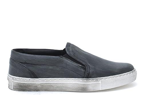 Vintage Lacci Basse Invernali Pelle Sneakers Nere On Senza Slip Uomo Onv8m0Nw