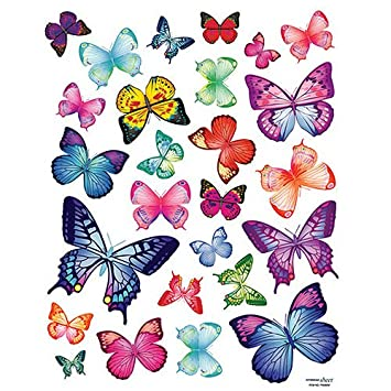 Easy Instant Home Decor Wall Sticker Decal Vivid Colorful Butterflies Wing Span