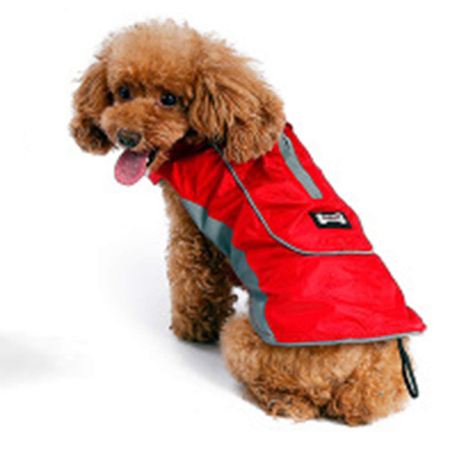 Red XXXL Red XXXL New Dog Jacket Pet Clothes Winter Warm Large Dog Coat with Harness Hole