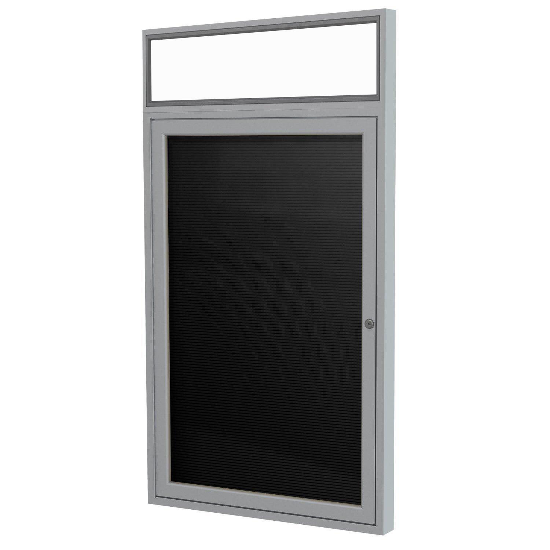 Ghent 36'' x 30'' 1 Door Outdoor Enclosed Vinyl Letter Board, Black (PABLX3-BK)