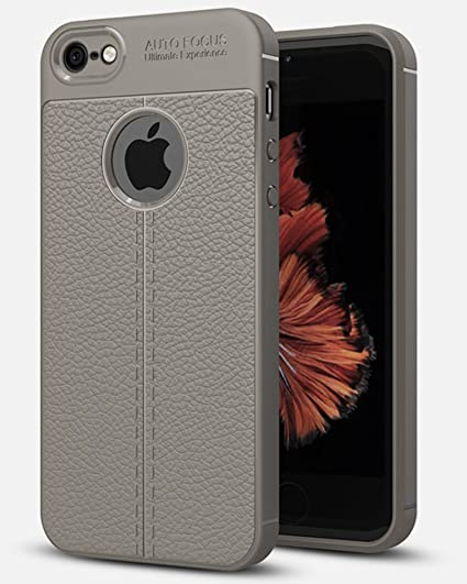 online store c5f79 f6ad0 Golden Sand Apple iPhone SE / 5S / 5 Cover Leather Texture Series Armor  Shockproof TPU Back Cover Case for iPhone 5 / 5S Mobile Space Grey