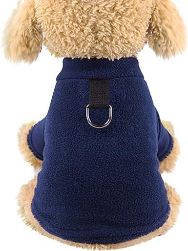 HappyShopYZ Moda Ropa para Mascotas Gatos Perros Camisa de Punto Calor Protección contra el frío Perros Gatos Ropa Abrigo Tops: Amazon.es: Ropa y accesorios