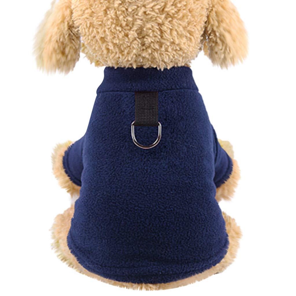 GNYD Maglione Accessori Canottiera per Cappotto per Animali Domestici Calda E Solida per Cani E Animali Eleganti Impermeabile Rosa;M