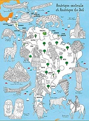 Carte Amerique Du Sud Colorier.L Atlas Du Monde A Colorier 12 Cartes A Decouvrir Et
