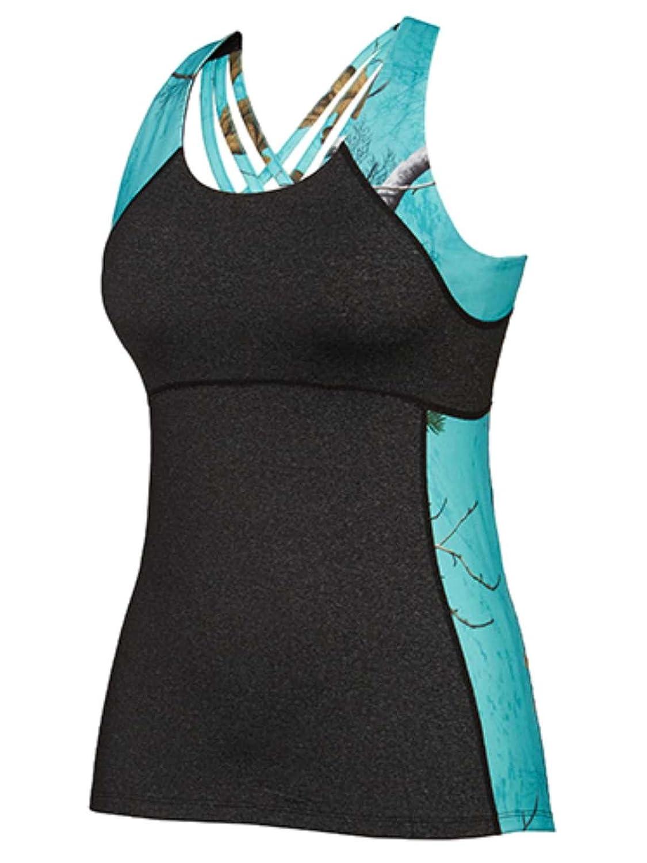 Colosseum Realtree Camuflaje para Mujer Seafoam Verde Integrado Sujetador Entrenamiento Camiseta de Tirantes: Amazon.es: Deportes y aire libre