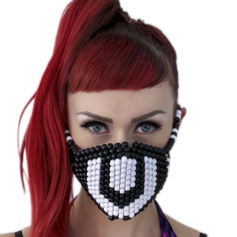 Ultra black and white Surgical Kandi Mask by Kandi Gear