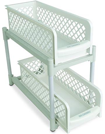 IDEAWORKS e7465 2 Basket cajones, PP, blanco, 38 x 14,6 x