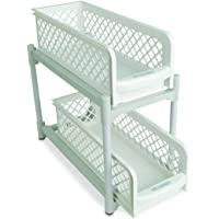 IDEAWORKS e7465 2 Basket cajones, PP, blanco, 38 x 14,6 x 33 cm