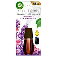 Air Wick Essential Mist Fragrance Oil Diffuser Refill, Lavender & Almond Blossom, 1 Count, Air Freshener