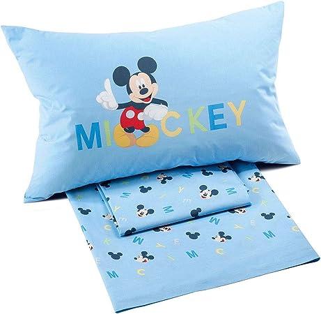 Lenzuola Letto Singolo Disney.Caleffi Completo Lenzuola Una Piazza Disney Mickey Boys Letto