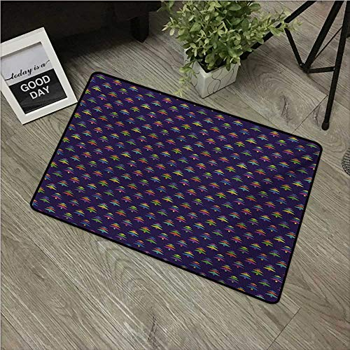 Series Honda Graphic - HRoomDecor Colorful,Durable Rubber Door Mat Nordic Winter Pattern of Lively Colored Christmas Trees Ethnic Graphic Design W 16