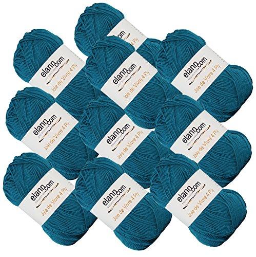 elann Joie de Vivre 4 Ply Yarn | 10 Ball Bag | 05 Intensely - Teal Wool Yarn