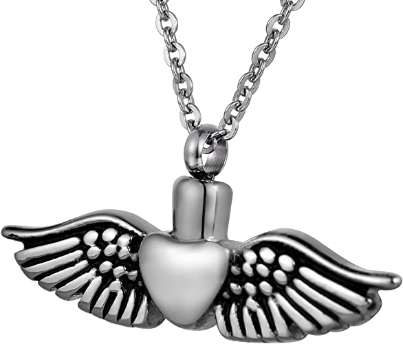 constantlife Cremation Jewelry Crystal Inlay Cross Urn Pendant Necklace Unique Keepsake 316L Stainless Steel Ashes Holder