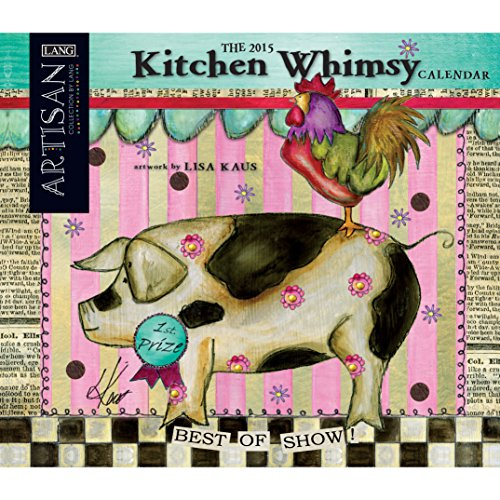 Avalanche January to December, 13.375 x 24 Inches, Perfect Timing Artisan Kitchen Whimsy 2015 Wall Calendar by Lisa Kaus (1001817)