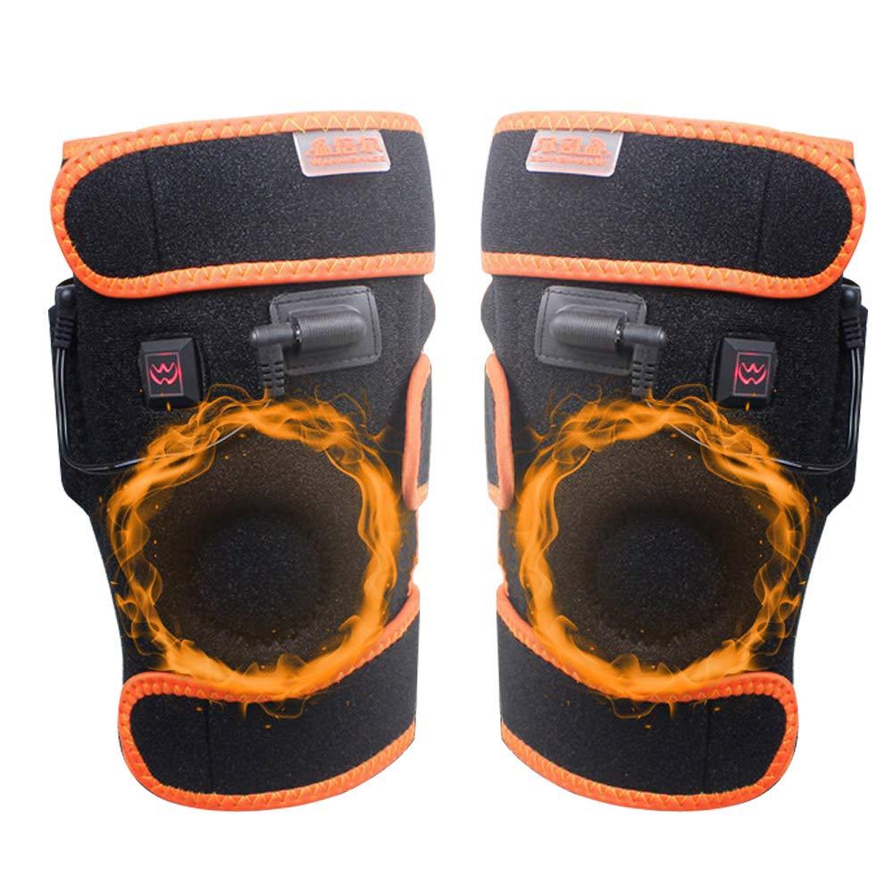 BOFEISI USB-Heizung Knieorthese Wrap, 3.7V 3600mAh Knieheizkissen Wrap Beheizte Knieorthese 1 Knopfsteuerung 5 Wärmeeinstellungen, waschbar, Passt für Frauen, Männer