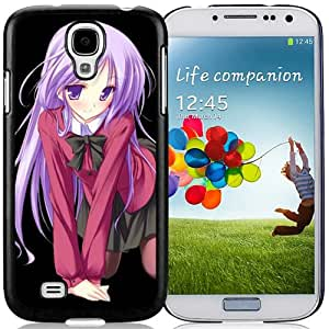 Popular And Unique Designed Cover Case For Samsung Galaxy S4 I9500 i337 M919 i545 r970 l720 With Girl Cute Smile Pose Background black Phone Case