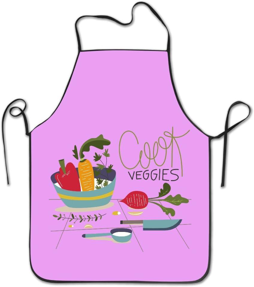 Cool bordes bordado de verduras cocina cocinar Chef delantal ...
