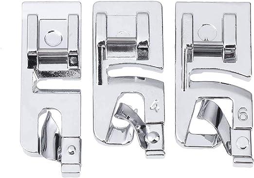 Healifty 3 pcs Puntada de Máquina de Coser Patas para Dobladillo Enrollado Set para máquinas de Coser domésticas: Amazon.es: Hogar