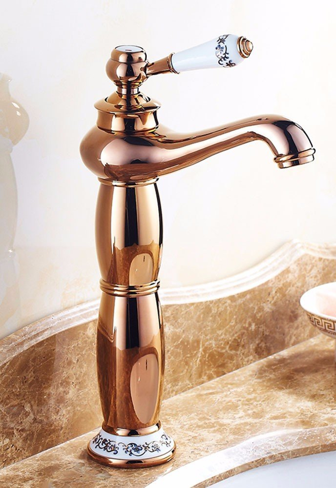 AWXJX The European style copper hot and cold bath sink gold plated Sink mixer by AWXJX Sink faucet