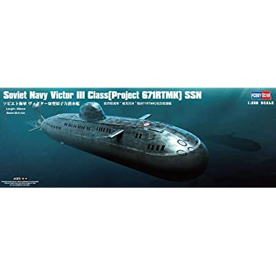 Hobby Boss Victor III Class (Project 671RTMK) SSN Boat Model Building Kit: Toys & Games