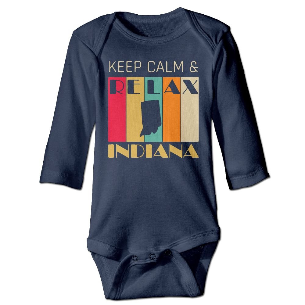 Mri-le1 Baby Girls Coverall Keep Calm /& Relax Indiana Toddler Jumpsuit