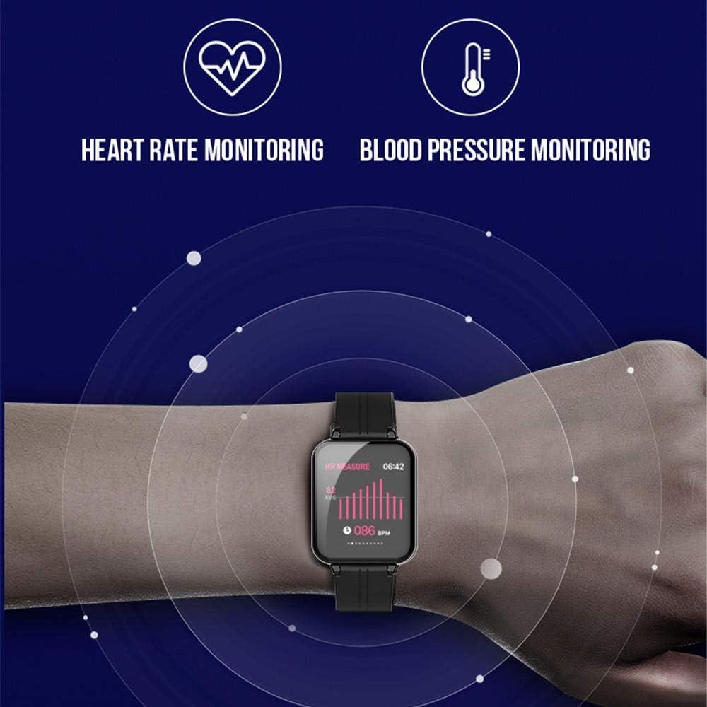 Smart Watch Uomo IP67 Impermeabile Cardiofrequenzimetro Braccialetto Intelligente Fitness Tracker Sport Smartwatch oro B