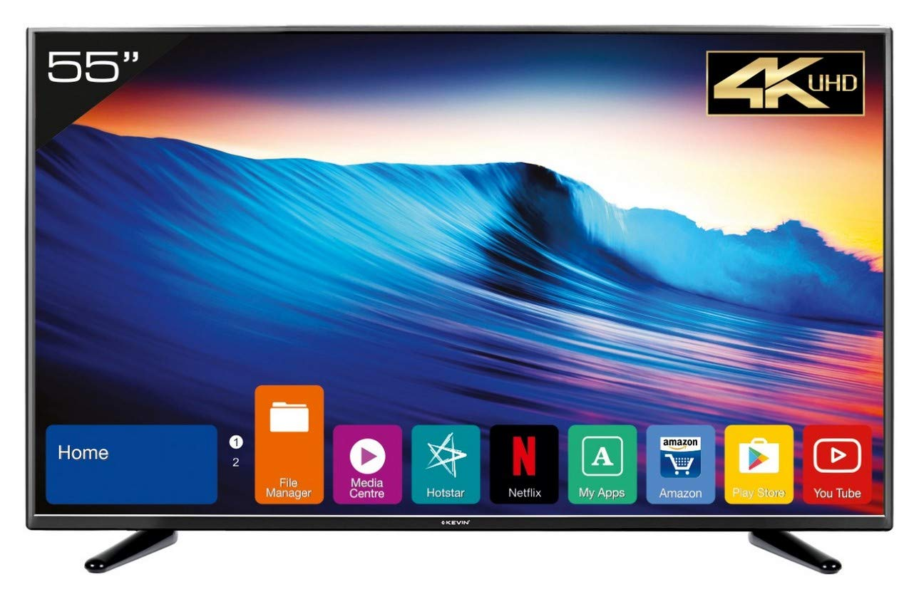 Best of the best 55 inch TV India - Kevin 140 cm (55 inches) KN55UHD 4K LED Smart TV (Black)
