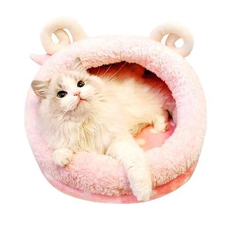 Pureage - Cojín de cama para mascotas, color rosa, para gatos/perros pequeños