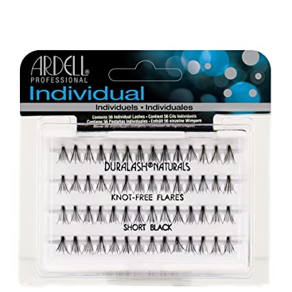 7fd42dccb7f Amazon.com : Ardell Duralash Naturals Flare Short Black (56 Lashes) (2  Pack) : Beauty