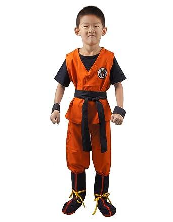 Dragon Ball Son Goku Kids Cosplay Costume (S)  sc 1 st  Amazon.com & Amazon.com: Miccostumes Boyu0027s Dragon Ball Son Goku Cosplay Costume ...