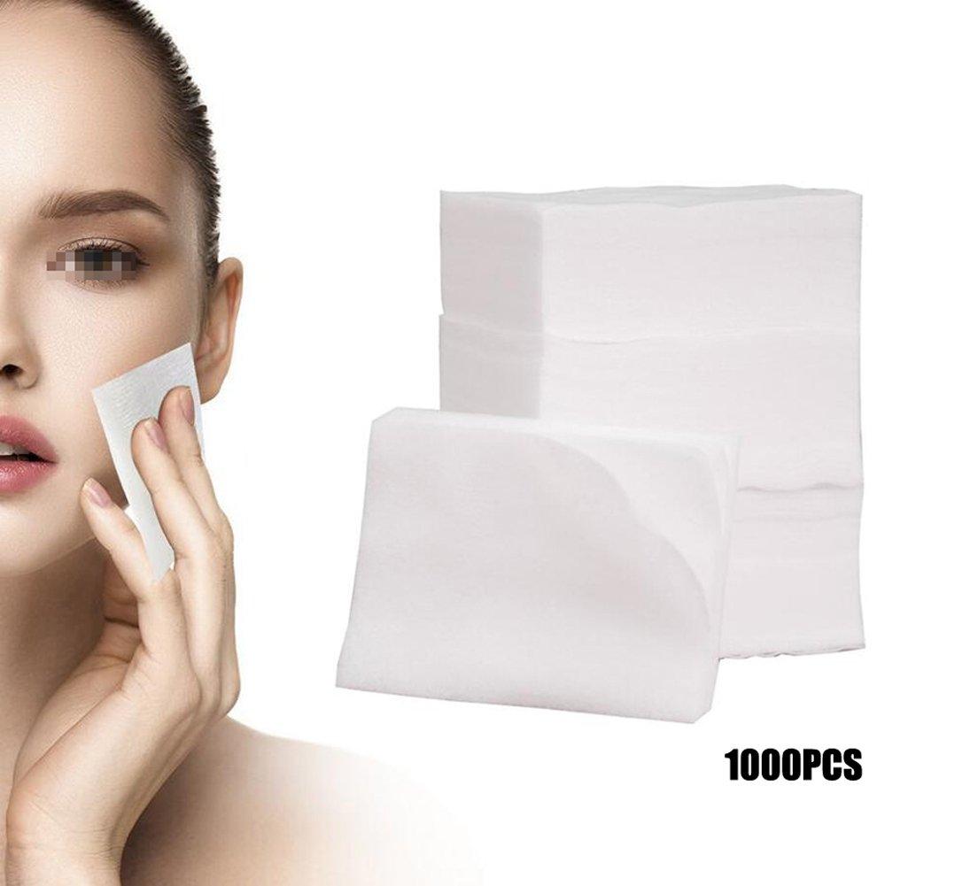 1BOX (1000PCS) bianco traspirante in tessuto non tessuto sottile trucco del viso morbido cotone usa e getta Face Deep Paper Wiper per trucchi e smalti di pulizia rimozione Skin care beauty Tools Upstore
