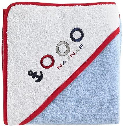 Naf Naf-30733 - toalla con capucha 100 x 100 cm, decoración Poco barco