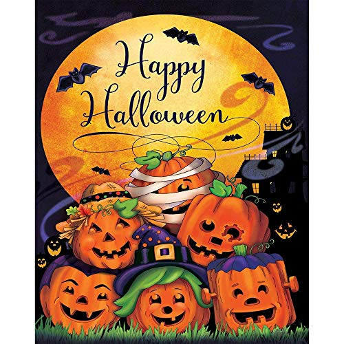 Happy Halloween Garden Flag Decorative Outdoors Yard Flag fo