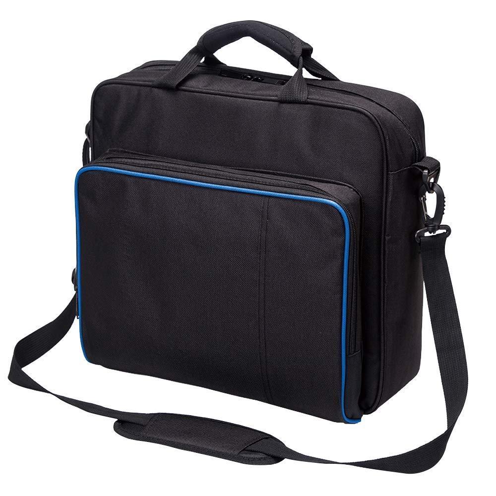 hothuimin- Custodia da trasporto per PS4,custodia da trasporto per PlayStation, borsa a tracolla protettiva da viaggio per PlayStation PS4, console e accessori, 1-004
