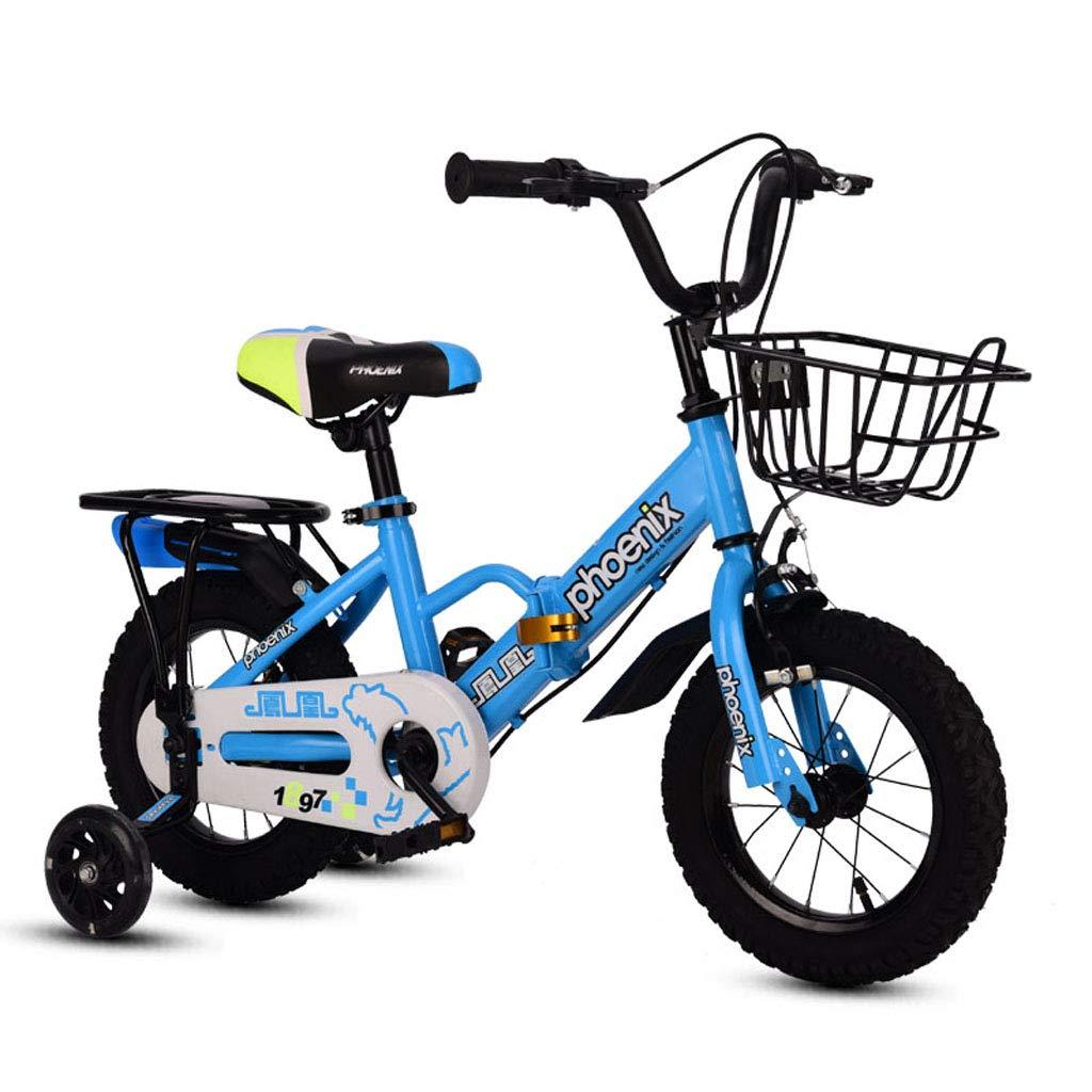 非売品 子供の自転車2-3-5-6-8歳の衝撃のベビーカー12/14 - 16in B07PSPQ8TR/16/18インチの折り畳み式の子供の自転車子供の自転車 - 後部座席、バスケットおよび補助輪付き 16in Blue A B07PSPQ8TR, 【驚きの値段で】:fa6f92e9 --- senas.4x4.lt