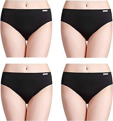 S  Schwarz NEU 3 Stück Damen Slip Unterhose Unterwäsche 10 Gr