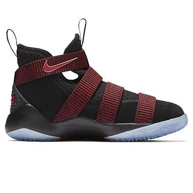 Nike PS Lebron Soldier Xi Basketball Shoe Black/Black-Team Red 1Y
