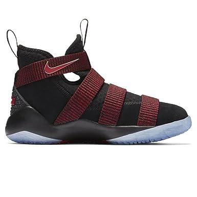 2b333ae09772f Nike Boys  Lebron Soldier Xi Basketball Shoes Black Black-Team Red 7Y   Amazon.co.uk  Clothing