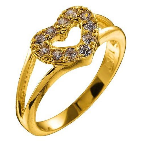 Bañado en oro de 10Q, 10 x 12mm Marco con forma de corazón abierto con