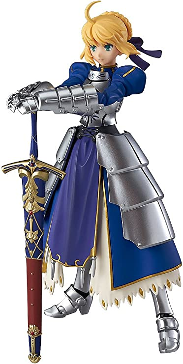 5.5/'/' Japanese Anime Fate Stay Night Blue Saber Warrior Figma PVC Figure 227