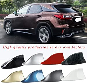 SHENYF Car Shark Antenna Auto Radio Signal Aerials Accessories for Lexus IS350 IS250 IS200 IS300 RX350 RX250 RX330 GS300 GS350 GS400 (Color : Gray)